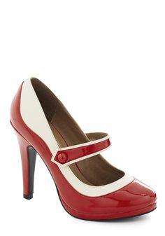 'S Marvelous Heel in Scarlet   Mod Retro Vintage Heels   ModCloth.com