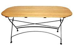 Rebecca Folding Table Oval on OneKingsLane.com