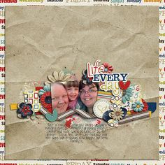 Layout by Trina. Supplies: Life.Every.Day. by ScrapMatters; Coneflower by Sara Gleason.