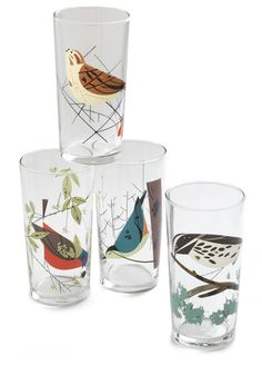Nest Best Thing Glass Set. A day in the woods sounds utterly divine, with the echoes of chirping birds and the warm breeze enveloping you as you skip from one column of sunlight to the next. #multi #modcloth