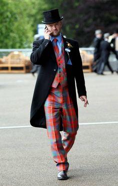 Stand out: one racegoer in a tartan suit - London Evening Standard