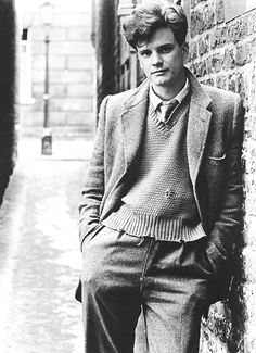 Colin Firth - Love the clothes, although I could do without that hair (of course, some hair would be nice.)