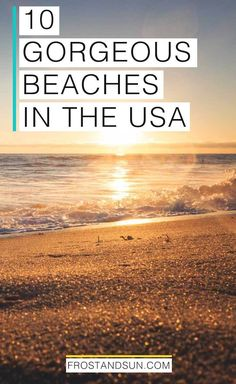Looking for a unique beach vacation in the US? From colorful sand to the best beach sunrises, I've got you covered with my list of 10 beautiful beaches in the US. Don't forget your sunscreen! Us Beach Vacations, Beach Vacation Tips, Vacations In The Us, Best Vacation Destinations, Best Vacation Spots, Best Vacations, Beach Trip, Vacation Trips, Beach Fun