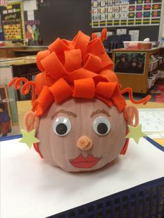 Book character pumpkin - Ms. Frizzle