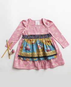 Matilda Jane Clothing ~ Paint By Numbers ~ LILY PAD DAMSEL DRESS 12 month