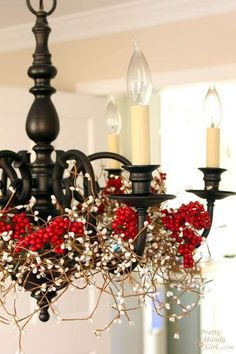 Chandelier Styling for Christmas Holidays