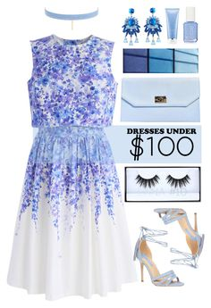 """""""Light Blue Spring"""" by keepfashion92 ❤ liked on Polyvore featuring Chicwish, Fragments, Boohoo, Jules Smith, Huda Beauty, Christian Dior and Dorothy Perkins"""