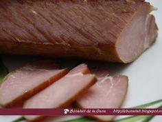 Muschiulet de porc afumat, poza 1 Romanian Food, Smoking Meat, Yams, Steak, Fish, Recipes, Canning, Pisces, Recipies