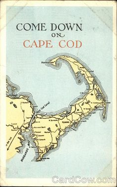 """Come Down on Cape Cod"" vintage postcard, 1917"