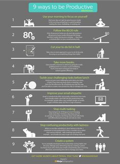 9 Ways To Be More Productive