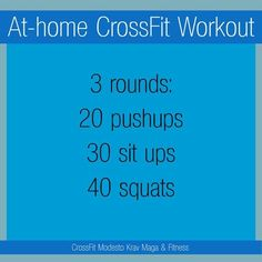 For days when I can't make it, home workout fill in.