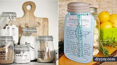 31 Free Printables and Templates for Mason Jars Love giving mason jar gifts We do too but have found one of the nicest things about these gifts is nbsp hellip Diy Sewing Projects, Cool Diy Projects, Sewing Hacks, Dollar Store Crafts, Crafts To Sell, Mason Jar Gifts, Mason Jars, Jar Crafts, Diy Gifts