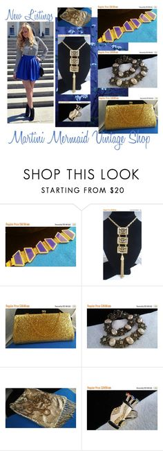 New Vintage Jewelry Listings... by martinimermaid on Polyvore featuring Whiting & Davis, Trifari and vintage