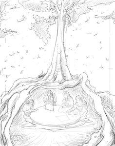 Boceto 01 - Relatos indígenas