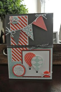 Up, up and Away Stampin up. More info: miriam-cardsandscrapping.blogspot.nl