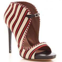McQueen Red Striped Beauties