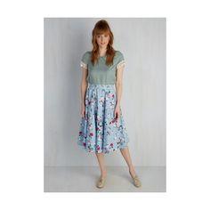 Mid-length Full Sculpture Garden Gala Skirt ($45) ❤ liked on Polyvore featuring plus size women's fashion, plus size clothing, plus size skirts, apparel, blue, bottoms, full skirt, skirts, full cotton skirt and print midi skirt