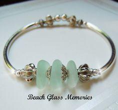 Sea Glass Bracelet Beach Glass Bracelet by BeachGlassMemories, $28.50