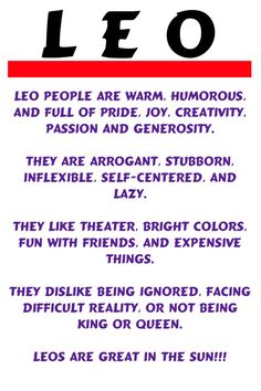 Note Card Leo Horoscope Description Fun Humorous by Pegalee, $3.00 Amen! To the dot!