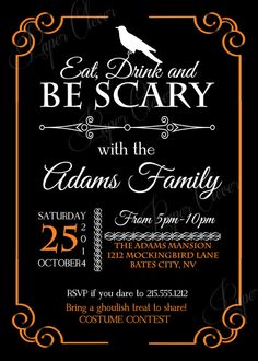 Halloween invitation costume party typography by paperclever