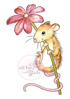 The Rubber Buggy  - Wild Rose Studio Clear Stamp - Mouse and Flower - PreOrder, $7.99 (http://www.therubberbuggy.com/wild-rose-studio-clear-stamp-mouse-and-flower-preorder/)