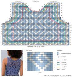 Crochet everything. Crochet Tank Tops, Crochet Shirt, Crochet Cardigan, Crochet Top Outfit, Crochet Clothes, Filet Crochet, Crochet Lace, Crochet Woman, Crochet Patterns