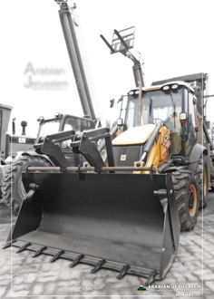 Backhoe Loader, Uae, Two By Two, Construction, Building