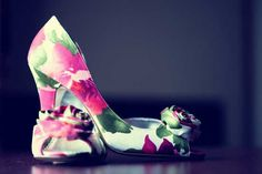 Hayley's floral pink shoes