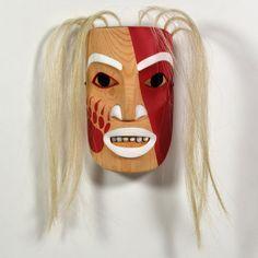 Kermode Portrait Mask by Cherish Alexander, Gitxsan, Tsimshian artist (W110706)