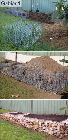 garden gabion retaining wall construction. http://www.gabion1.com.au