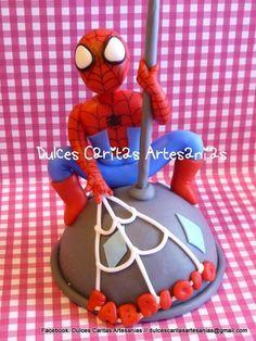 spiderman porcelana fria adorno de torta