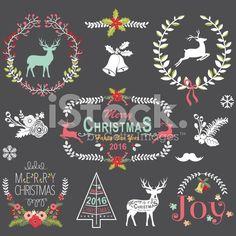 Retro Christmas Chalkboard- Illustration royalty-free stock vector art