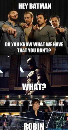 hahah #avengers #howimetyourmother #batman
