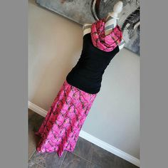 Pink Realtree Camo AP Women's Long Maxi Skirt by PinkPearBoutique
