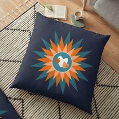 """""""Stars and Hearts"""" Floor Pillow by Mandsred1 