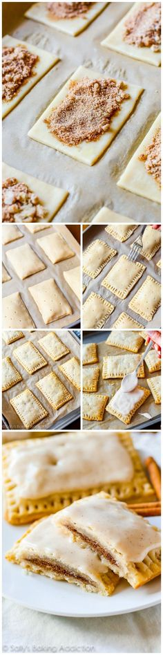 Homemade Brown Sugar Cinnamon Pop-Tarts are even tastier than the originals. Step-by-step recipe on sallysbakingaddiction.com