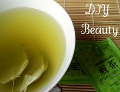 DIY  Green Tea Toner:  Whenever you make a cup of green tea, save the used tea bag to re-use as toner.  Boil a separate pot of water and re-steep the used tea bag. Once cooled at room temperature, put the tea-water in the fridge for later use.    The green tea water can be used as a toner and as a facial rinse. It works great as a cooling and soothing eye mask. Simply dip your cosmetic cotton pad in the cool tea water and apply to your eyelids for about 5 minutes.