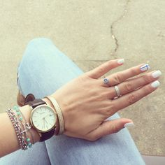 Accessorizes : #ring # Marilù, #silver #ring #Marilù #bracelet *2 , #nomination #bracelet #Sekonda #watch #leather #bracelet #leather #bracelet , #sagapõ #bracelet #whitenails #nails #white #semipermanentpolish #polish