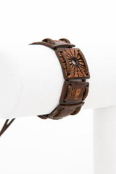 "ON SALE Unisex Bracelet ""Elements"" from coconut shell  ethno bracelet eco bracelet bio hand carved bracelet   shell carved handmade wood bra - $35.00 USD"