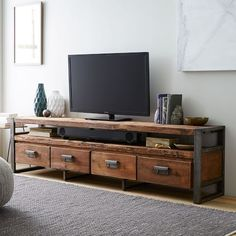 Bin Pull 4-Drawer Media Console | west elm