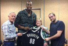 Dennis Shepard, Jason Collins, Judy Shepard, and Logan Shepard, on 02/27/14.   Collins, while still in the closet, wore '98' on his jersey as a secret tribute to Matthew Shepard, a young gay man who was murdered in 1998, in a horrific gay-bashing that stunned the nation.
