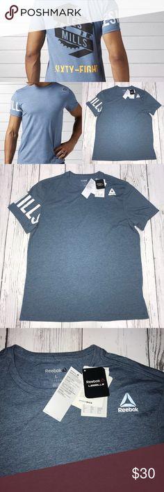 NWT Les Mill Reebok Men's Athletic T-Shirt Size-L Les Mill Reebok Men's Athletic  T-Shirt NWT Size- Large Reebok Shirts Tees - Short Sleeve