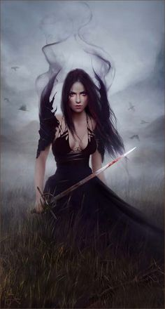 BLOOD: She is kind of dark wizard, mastering the sword, able to hide herself in the shadows, and command them.
