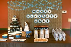 """The cutest puppy party ideas ever!  You have a dog house for pictures, dog bone pretzals, eat cupcakes our of dog dishes, """"adopt"""" your own stuffed dog... it is sooooo cute. I must do this!"""