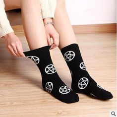 High Elasticity Girl Cotton Knee High Socks Uniform Guitar Sketch Women Tube Socks