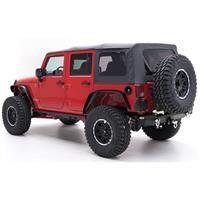 07-10 Jeep Wrangler (JK) - 4 Door OE Style Replacement Top W/Tinted Windows - Black Diamond