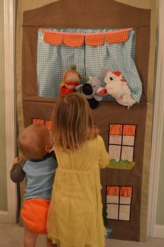 From Little Things to Sew: puppet theater by ashleyculby