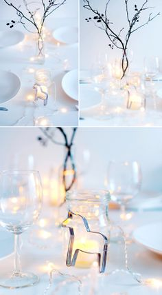 Christmas/winter table setting