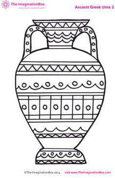 ancient greek urn colouring sheet fun free printables for kids Ancient Greek Art, Egyptian Art, Ancient Greece For Kids, Ancient Greece Crafts, Ancient Aliens, Ancient Egypt, Greek History, Art History, European History