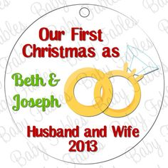 Personalized Ceramic Christmas Ornaments by babyfables on Etsy, $14.50